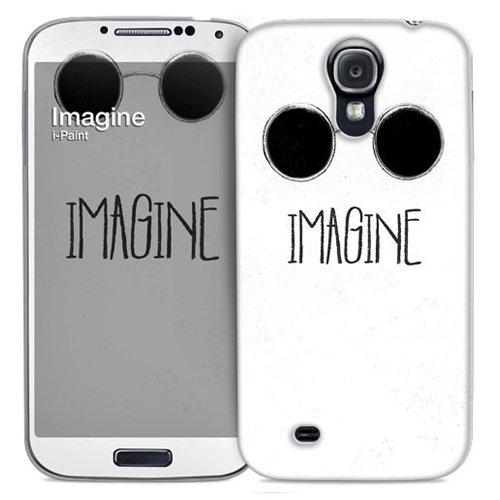 i-Paint 14-05-36 - Guscio protettivo e pellicola salvaschermo per Galaxy S4 Nero, Bianco