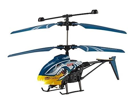 Revell Control RC Helikopter, ferngesteuerter Hubschrauber für Einsteiger, 2-CH IR Fernsteuerung, einfach zu fliegen, Gyro, sehr stabil, einfaches Laden an der Fernsteuerung, Indoor - ROXTER 23892