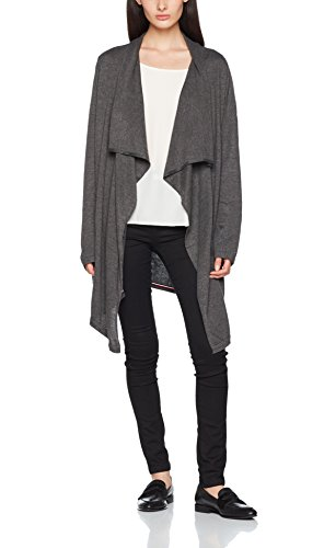 Tommy Hilfiger Damen Cape Wrap Ls, Grau (Dark Grey Heather 020), 8 (Herstellergröße: Small) (Hilfiger Cape Tommy Damen)