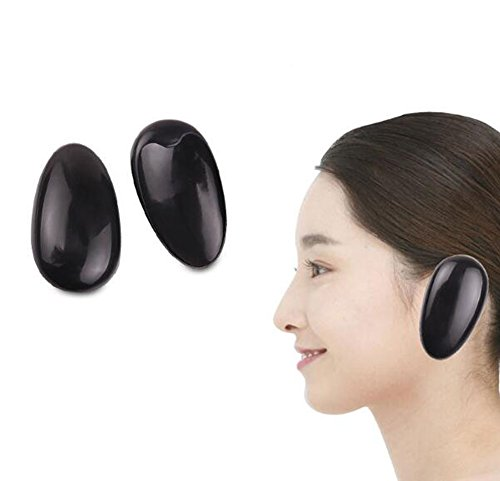 3 pares de tapas de plástico reutilizables para el pelo, protector para colorear, protector de peluquería, kit de peluquería, color al azar