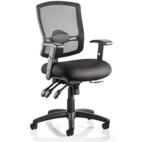 Best Saving for Dynamic Portland III Task Operator Mesh Chair Back with Arms – Black Special