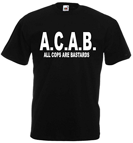 ACAB ALL COPS ARE BASTARDS T-SHIRT S-XXL