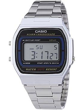 Casio Collection – Unisex-Armbanduhr mit Digital-Display und Edelstahlarmband – A164WA-1VES