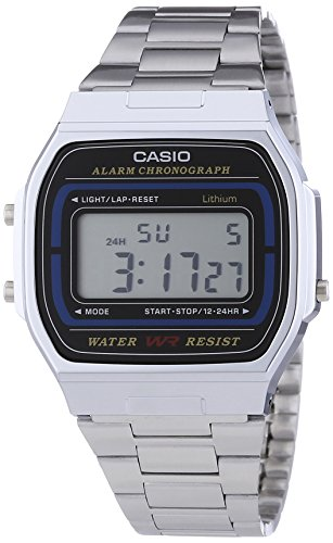 Casio Collection Unisex-Armbanduhr A164WA1VES (Collection Damen Leder)
