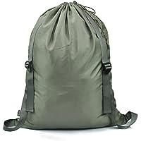 Hanging Bag lavanderia 100% Nylon Hanging cesto della biancheria sporca con spalline regolabili, coulisse con serratura per studente di college Usa, 25 X 31