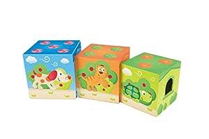 Hape- Cubos apilables Pepe y Amigos (Barrutoys E0451)