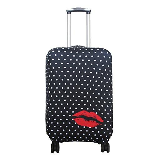 Explore Land Spandex viaje equipaje cubierta Carretilla caso protectora cubierta (Polkadot, M (23-26 pulgadas equipaje))