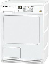Miele TDA 150 Wäschetrockner-/ Kondenstrockner / Energieklasse B / mit 7 kg Schontrommel / Weiß / Optimale Trockungsergebnisse dank Perfect Dry / Restzeitanzeige / Integrierte Kondenswasserableitung