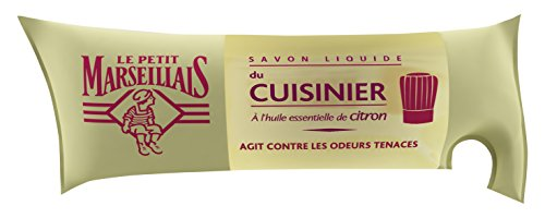 Savon liquide du cuisinier à l'huile essentielle de citron - Le Petit Marseillais - Flüssige Seife mit Zitronenöl - bekämpft schlechte Gerüche in der Küche