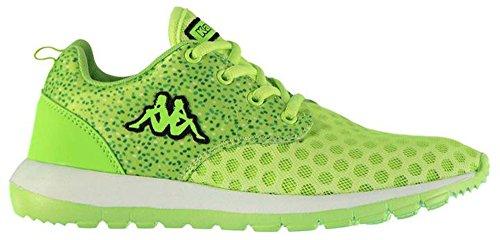 Kappa , Baskets mode pour femme Vert citron