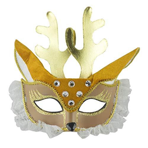 Holibanna máscara de Ciervo de Halloween Mascarada máscara de Ciervo Disfraz Accesorio de Fiesta