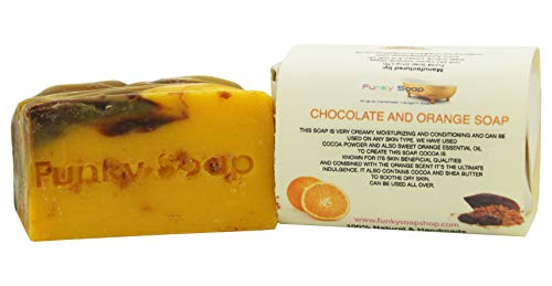 1 pièce Chocolat et Orange Savon 100% Naturel Fait Main aprox.120g