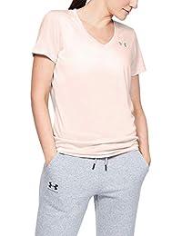 Under Armour Damen Tech Short Sleeve V - Twist, kurzärmliges & atmungsaktives Laufshirt für Frauen, ultraleichtes T-Shirt mit loser Passform
