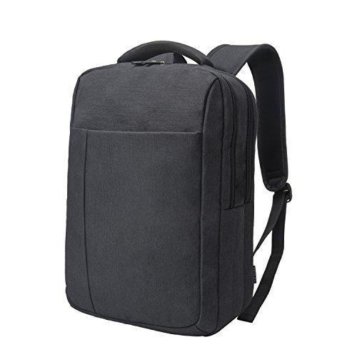 Imagen de reyleo  negocio backpack escuela del trabajo diario estudio para hombre mujer estudiante  14l negro y gris