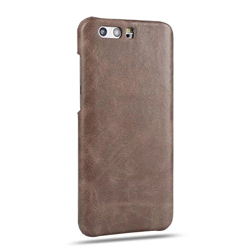 YHUISEN Retro Style Luxury Ultra Thin Original Leather Case Cover Schutzhülle für Huawei Honor 9 ( Color : Black ) Dark Brown