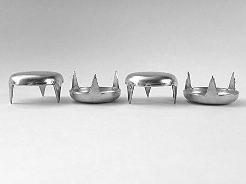 en acier plaqué nickel à griffes en métal meubles Chaise de table coulissante glisse Tailles disponibles 10, 13, 15, 18, 20, 22, 24, 27, 30, 35et 38mm de diamètre fabriqué en