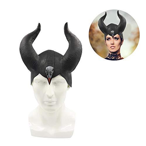 Heoolstranger Máscara De Cuerno De Buey-Disfraces De Sombrero De Cuernos De Halloween Máscara De Tocado Accesorios De Cosplay para Mujeres Niñas Adulto- (9.06in)