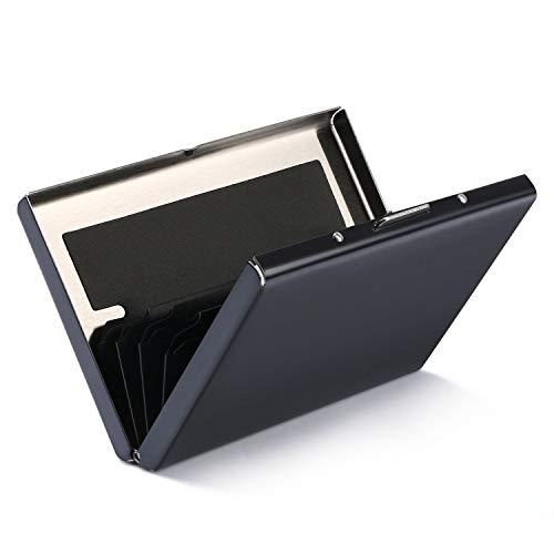 Porte-Carte de Crédit/Visite/Porte Monnaie/RFID Lutte Contre Criminel de Scanning - Cool Etui de Carte de Visite Slim Métal (Noir 1PCS)