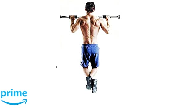 Pull Up Bars Home Exercise Workout Training Gym Bar Chin Up Size
