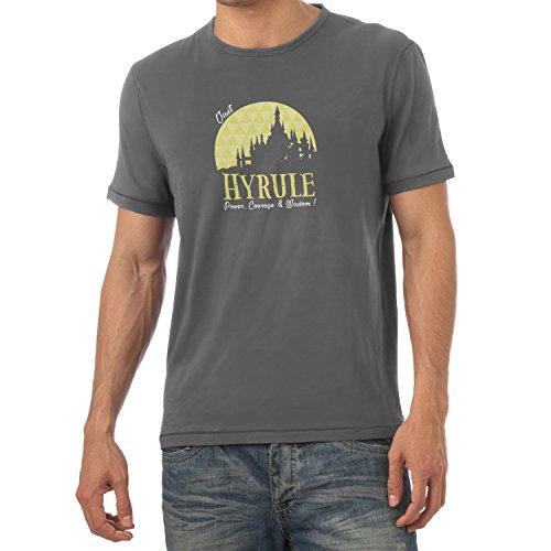 TEXLAB - Visit Hyrule - Herren T-Shirt, Größe L, (Cute Männer Kostüm Nerd)
