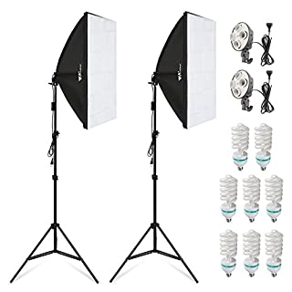 Kit de iluminación continua para fotografía, de Amzdeal Softbox (135 W, 8 bombillas y 2 x 2 m) (B01FLZJTWS) | Amazon Products