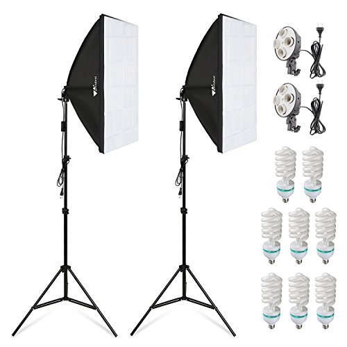 Kit de iluminación continua para fotografía, de Amzdeal Softbox (135 W, 8 bombillas y 2 x 2 m)