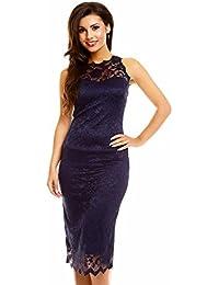 Spitzenkleid Cocktailkleid Abendkleid Etuikleid aus Spitze Deluxe Look