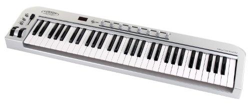 Classic Cantabile MK-61 USB Midi-Keyboard mit 49 Tasten (8 programmierbare Drehregler, 1 programmierbarer Slider, 5-stufig einstellbare Anschlagdynamik, Anschluss für Sustain-Pedal, inkl. USB-Kabel)