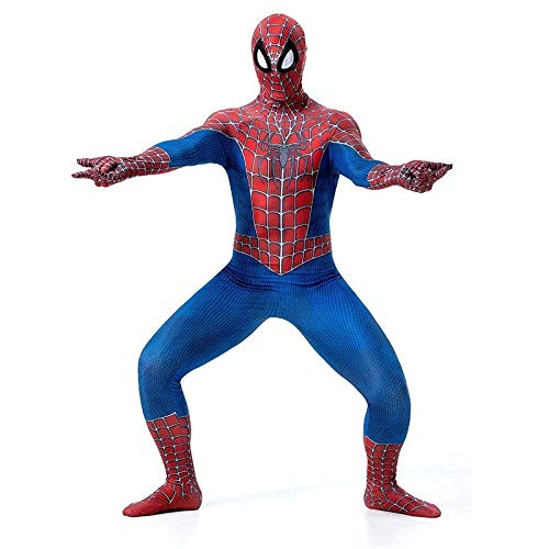 YXIAOL Klassisches Spider-Man-Kostüm, Superheld-Kostüm, Film-Cosplay-Kostüm, Halloween-Karnevalsparty-Kostüm, Spandex-Strumpfhose Im (Klassische Kostüm Aus Filmen)