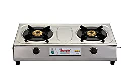 Golden Surya Kristal Stainless Steel -2 Burner Gas Stove