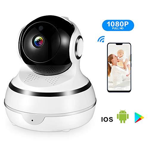 ACCEWIT IP Camera Baby Monitor Videocamera di sorveglianza 1080P Wifi, Smart Home, con visione notturna, allarme di movimento, modalità Crociera automatica, Audio a 2 Vie, con App per IOS/Android/PC