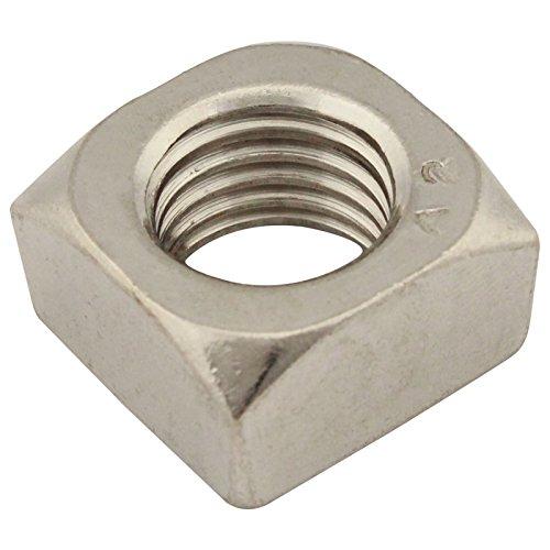 Vierkantmuttern (Standard Ausführung) - M6 - (20 Stück) - DIN 557 - Edelstahl A2 (V2A) - Einlegemutter - SC557 | SC-Normteile®