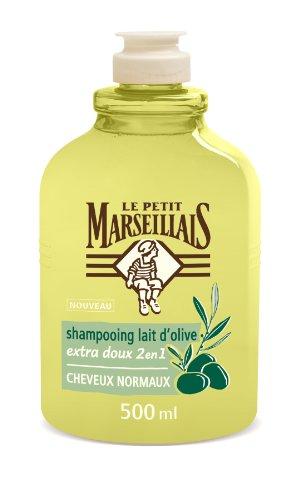 Le Petit Marseillais Shampooing Extra Doux Cheveux Normaux Lait d'Olive 500 ml Lot de 2