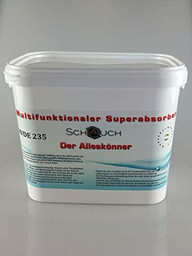 Superabsorber, Feuchtigkeitsschützer, zum Aufsaugen von Wasser und sonstigen Flüssigkeiten (1 Kg), HVDE 235 von Schauch