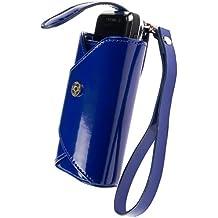Krusell Lush patent nappa Leather Case / Tasche Cobalt Blue Passend Für Sony Ericsson W20 Zylo