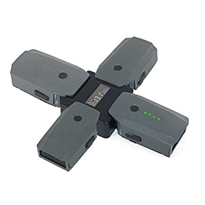 Fascinated Drone Battery Steward Parallel Charging Board Charger Adapter with Digital Display for DJI MAVIC PRO