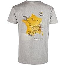 Le Tour de France de ciclismo–Parcours 2016–Camiseta oficial–para hombre, talla DE adulto, Le Tour de France, color Gris - gris, tamaño XXL
