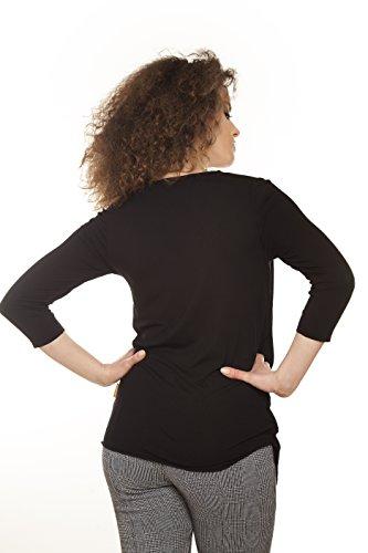 Mamatayoe Damen Bluse Grabau Black (Schwarz)
