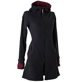 Vishes - Alternative Bekleidung - Warmer Elfen Kurzmantel mit Zipfelkapuze schwarz 36