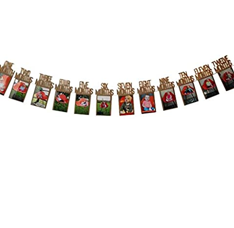 Cadeaux pour bébé Elyseesen Enfants anniversaire cadeaux décorations 1-12 mois Photo bannière mensuel Photo mur