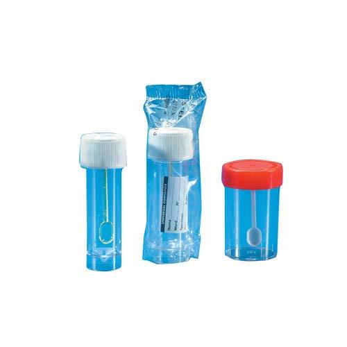 Azlon plastica 100 ml 10 confezione da 10 a bocca larga HDPE