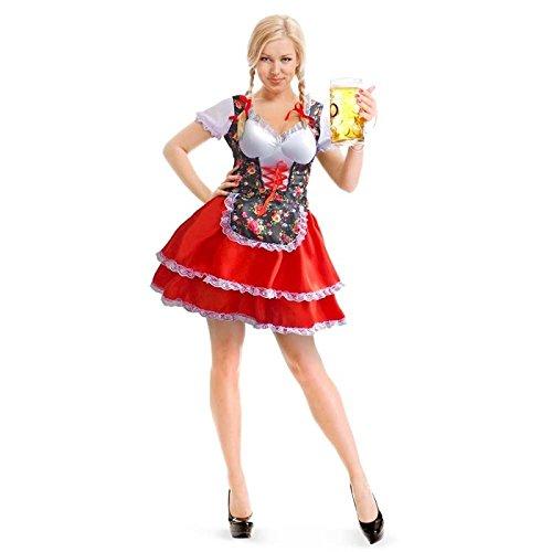 tüm Tiroler Kleid Blumen Oktoberfest (Tiroler Kostüm)