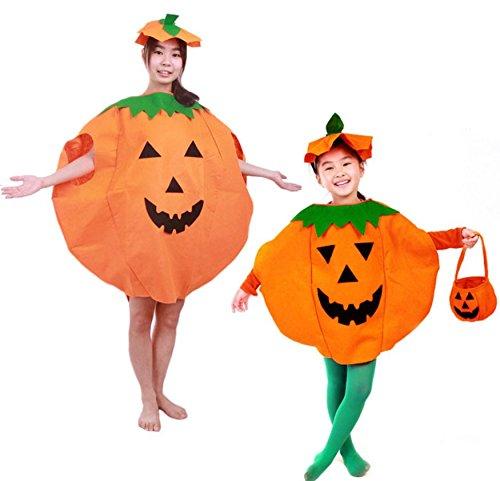ancy Kleid Kürbis Outfit Kleidung für Halloween-Kostüm Party (Halloween-un Show Mas)