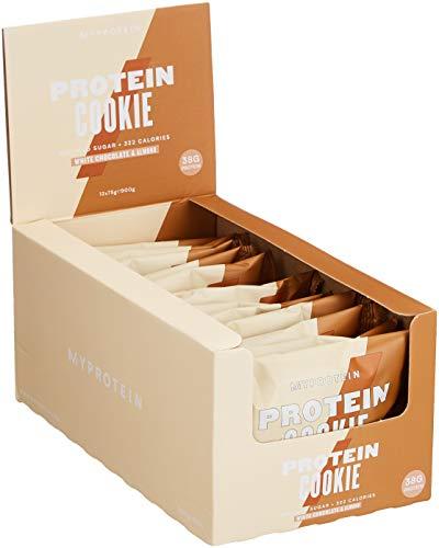 Myprotein Max Protein Cookie Box White Chocolate Almond, 1er Pack 12 x 75 g