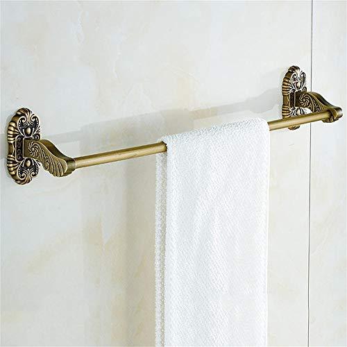 Im europäischen Stil Retro Square dreidimensionale Relief Single Rod Handtuchhalter Antique Chinese Single Towel Bar Bad Bad Handtuch -