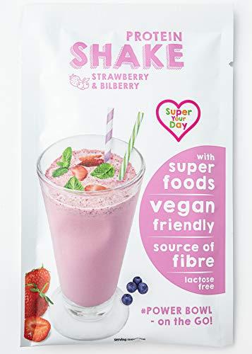 Super Your Day, Proteinshake: Erdbeere und Heidelbeere (8x 19g)