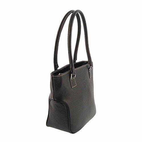 Shopping bag in pelle Nero