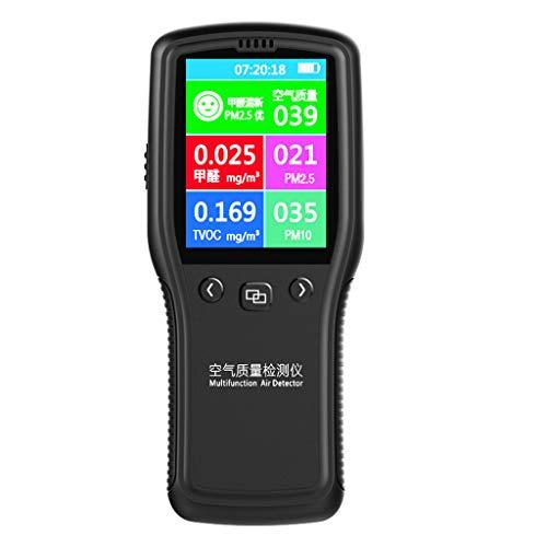 BIlinli PM2.5 Detektor Gasdetektoren Luftqualitätsmonitor Digitales Prüfgerät zur Überwachung von Formaldehyd TVOC PM2.5 PM10 HCHO