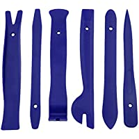 Kongqiabona 6 piezas de lujo herramientas de reparación de sonido de plástico Radio de coche Clip de la puerta Panel Recortar Dash Audio Instalación de eliminación de estéreo Herramientas de palanca (azul)