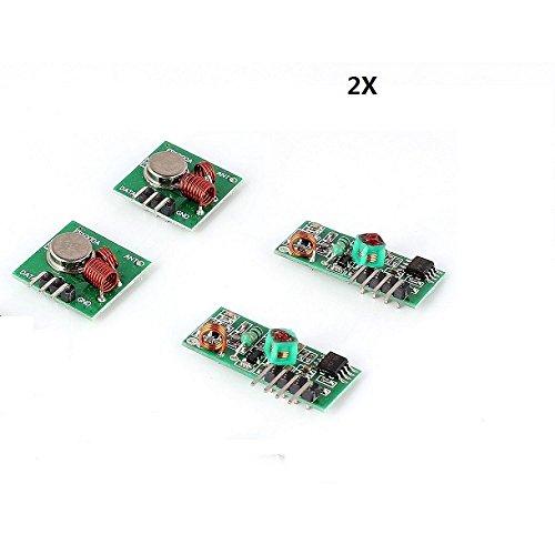 2x 433M-Empfangermodul 433MHZ Superregenerations Funk-Sendemodul Einbrecher Alarm fur Arduino Raspberry Pi